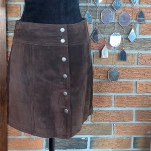 GAP Brown Suede Mini Skirt